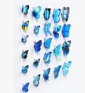 3D наклейки украшения бабочки стены бабочки PVC съемный стикер
