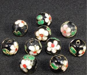 12mm Cloisonne Esmalte Granos Filigrana Filigrana Genuino Redondo Sueltos Pernos Espaciadores Para Joyería DIY Pulsera Manualidades Encantos Cloisonne Beads