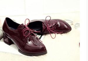 Pequeño código de otoño 313233 solteras de mujer de encaje profundo talla grande talón zapatos de mujer 40414243 zapatos bajos