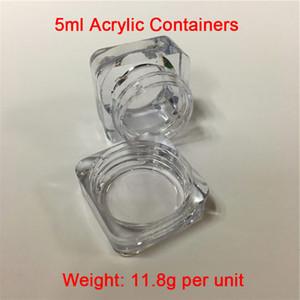 Cheap 5ml / g Weight 12G Clear Square Contenedores Smoke Jars Wholesale Plastic Wax Envases a la venta Envío gratis a todo el mundo