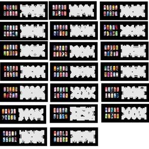 2017 Новое Прибытие 20 Psc Аэрограф Ногтей Трафарет Листы Дизайн Арт Краска Страницы 41-60 Бесплатная Доставка