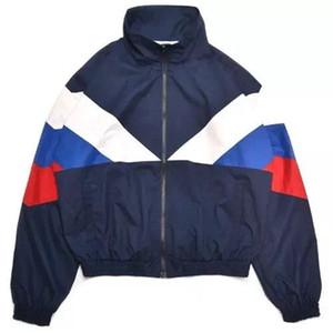Gosha Rubchinskiy Classique Marine Veste Tricolore Collage Unisexe Extérieur Coupe-Vent Hip Hop Marque Veste