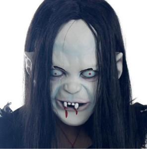 Escorpión Máscara apoyos de goma tapas de bruja de Halloween fantasma venganza Sadako jersey de terror Máscaras novia miedo partido del zombi