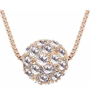 اكسسوارات أزياء للنساء العلامة التجارية تصميم ارتفع الذهب مطلي Shamballa كريستال قلادة قلادة مجوهرات سحر مجوهرات (5 ألوان) 6341