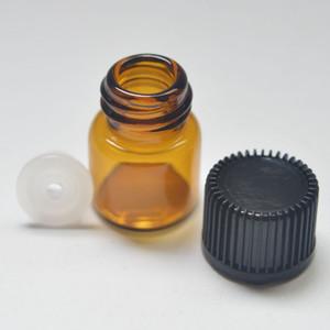 شحن مجاني 1 ملليلتر العنبر البسيطة زجاج زجاجة 1/4 الدراما واضح عينة قارورة صغيرة الضروري النفط زجاجة سعر المصنع
