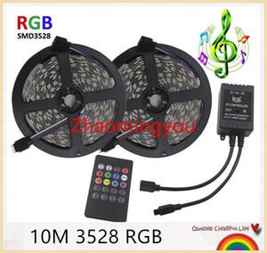Йон 3528 RGB светодиодные ленты гибкий свет 10М 600 со светодиодной Сид SMD2835 60leds/м музыка ИК пульт дистанционного управления 12В , домашнее украшение светодиодные полосы
