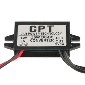 CPT Защита цепи DC DC Преобразователь Модуль 8 В / 12 В / 16 В / 20 В / 24 В До 5 В 3A 15 Вт Двойной USB-адаптер питания на выходе
