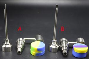 Bong-Werkzeug-Set Honig Eimer Bubbler Banger 6 in 1 Titan-Nagel-Carb Cap Dabber Slicone Jar fit 14.10 / 18mm Glaspfeife