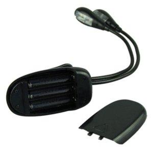 Nuevo clip de ganchos de cuello ajustable en la lámpara LED para el soporte de la música y la lectura del libro Iluminaciones de luz dos cabezas dobles estilo a la venta