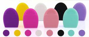 Escova De Lavagem De Maquiagem De Limpeza Da Luva Do Ovo Scrubber Board Cosméticos Brushegg Escova Cosmética Egg 7colors brushegg