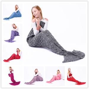 New Fashion Mermaid Tail Coperte Sacchi a pelo Sacchi a pelo Wave Blanket Bedding Wrap Knit Sofa Coperte B0850