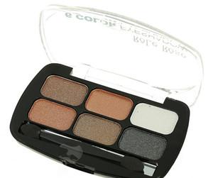 Nude Smoky Pearl Eye Shadow Make Up Light Eyeshadow Cosmetics Set With Brush 6 Colors Eye Makeup Palette