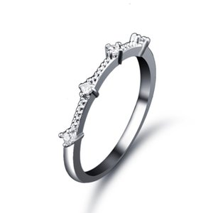 Simple Wedding Ring Authentic 925 Sterling Silver Rings Women Anillos Bijoux CZ Anel Cubic Zircon Wedding Finger Ring Fine Jewelry