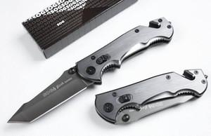 De calidad superior 2 estilo SOG Phantom pájaro de fuego de gran tamaño plegable de la supervivencia cuchillo cuchillos 57HRC 440 de la lámina de titanio EDC de bolsillo con caja al por menor