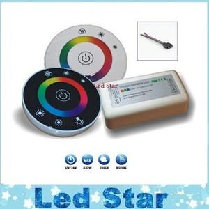 NOVA RGB controlador DC12V 24 V 18A Sem Fio LEVOU Controlador RF Painel de Toque do DIODO EMISSOR de LUZ Dimmer RGB Controlador Remoto para 5050 3528 RGB