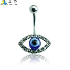 Venda imperdível! Chegada nova Alta Qualidade Moda Azul Olhos de Cristal Forma Umbigo Anéis para As Mulheres Body Piercing Jóias