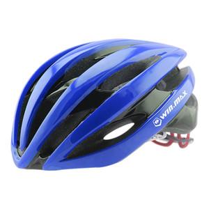 Winmax Велоспорт шлемы мужчины дорожный велосипед шлем со светодиодными сигнальными огнями сверхлегкий ПК + EPS Road Mountain MTB велосипед шлемы