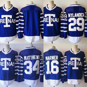 Mens 34 Auston Matthews 1918-19 토론토 Aretnas 저지 공백 16 Mitchell Marner 29 William Nylander Hockey Jerseys Cheap Wholesale