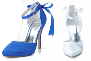 0255-28 Nuevos zapatos de la boda de la manera Nudo de la cinta Zapatos de tacón alto Zapatos de novia de la boda Formal Noche Zapatos de fiesta Las mujeres usan barato