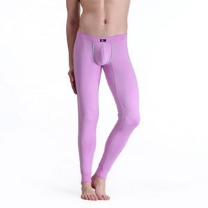 Wholesale-Soft Long Johns Pants Warm Thermal Underwear Low Rise Underpants M L XL