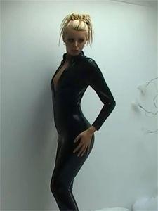 Hot Sexy Catwomen Jumpsuit Spandex Latex PVC Catsuit Disfraces para mujeres Trajes de cuerpo Fetish Leather Dress