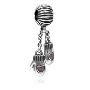 Perline braccialetto europeo Guanto ciondolo accessori decorazione natalizia inverno sciolto perline regali dangle Adatto bracciali Pandora Charm Beads