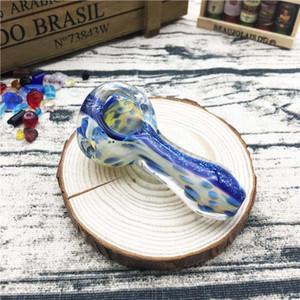 Mini tubo de cristal azul del tabaco del tubo de la mano del modelo de comienzo de 2.7 pulgadas para el tubo de cristal de la mano del uso que fuma