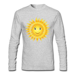 High Quality Free Street T-shirt Smiling Sun Head Happy Pattern Tees 100 Percent Cotton Tee Shirts