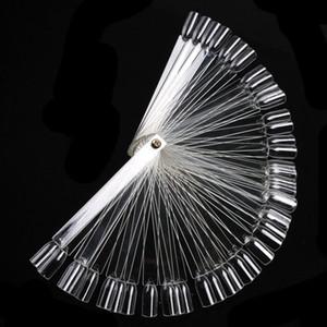 Atacado-New 50 peças / set 3D Rodada Beleza A Unha Modelos Falso Nail Art Tips Stick Display Prática Fan Board 100% Marca