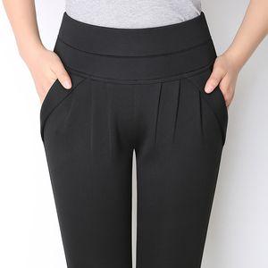 NIJIUDING Spring Summer New Fashion Women Harem Pants Casual Plus Size Womens Formal Pantalones Pantalones hasta la pantorrilla S-6XL