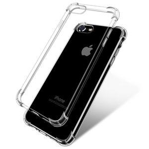 Para iphone x 8 7 6 6 s plus 5 5S se cristal claro absorção de choque flexível de silicone tpu case anti-scratch slim capa protetora
