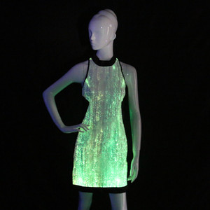 led light up dresses Glow in the Dark Bridesmaid Dresses Cheongsam Sleeveless Cocktail Evening Party Dress Newest jazz costumes
