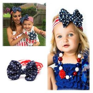 2016 Nova Bandeira Americana Headband 4th of July Dia Da Independência atada Headband com Arco Gair Bandeira Americana Acessórios Para o Cabelo K7048