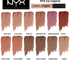 NYX lip lingerie Do not stick a cup of lipstick 12 Colors for Choose Waterproof long-lasting lipgloss Matte Liquid Lipstick
