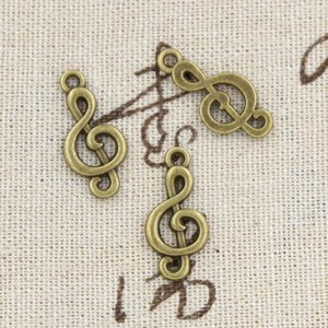 120 adet Charms nota 23mm Antik Yapma kolye fit, Vintage Tibet Bronz, DIY bilezik kolye