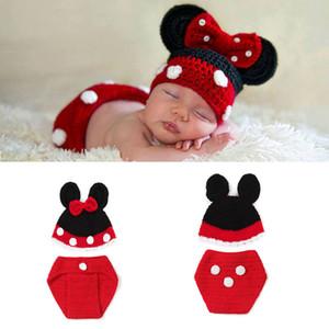 Costume di Halloween Cartoon Fotografia Puntelli Crochet Baby Boy Costume lavorato a maglia Neonato Abiti Baby Crochet Hat Beanie Infant BP113