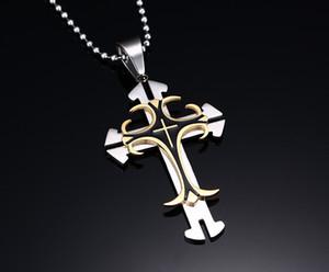 8 modèles de mode hommes bijoux croix chrétienne pendentif en acier inoxydable 316L grande croix haute Qualité8