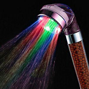 Crystal führte Hand Duschkopf führte Turmalin SPA Anion Dusche Ducha Chuveiro LED Duschkopf Beleuchtung Badezimmer Anion Spa Dusche