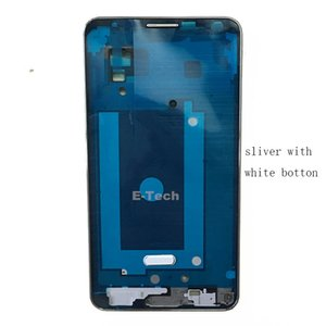 OEM For Samsung Galaxy Note 3 LTE 4G N9005 Front Screen LCD Panel Frame Middle Bezel Housing + Home Button Replacement Silver & Gold 50PCS
