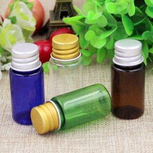Hot 100 unids 10 ml de Metal Cap Maquillaje Cosmético Vacío Reciclar Botellas Redondas de aluminio Cap Little Pill Liquid Cream Botellas de Plástico para el cuidado de la piel
