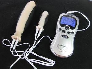 Eletrodo de Choque Elétrico Anal Dildo Plug Butt Plug Estimulador Mastubator BDSM Bondage Engrenagem Brinquedos Sexuais Produtos