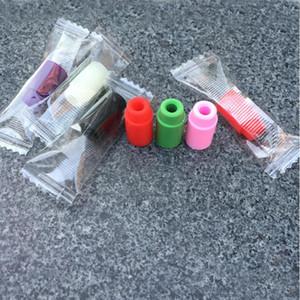 Punte di gocciolamento in silicone monouso Tappo di tappo per atomizzatore Tappi di prova antipolvere in morbido silicone per atomizzatore