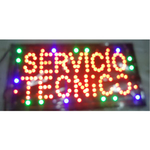 New Arrival custom led sign Graphics Semi-outdoor 10X19 inch Servicio Tecnico Technical Service Business store signboard wholesale