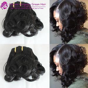 Spring curl doble dibujada tía Funmi pelo sprial curl pro pelo rizo pelo humano tejer belleza caliente para el cliente uk