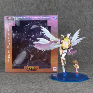 22.5cm Anime Digimon Adventure Angewomon PVC Action Figure sammelbare Modell Spielzeug für Kinder Weihnachtsgeschenk freies Verschiffen Einzelhandel