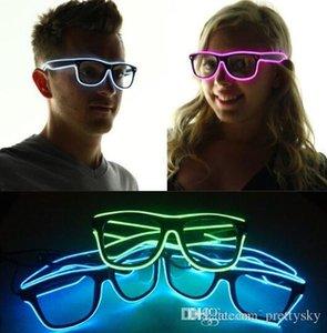 LED حزب نظارات أزياء الأسلاك نظارات عيد هالوين حزب بار الزخرفية المورد نظارات مضيئة نظارات KKA2002