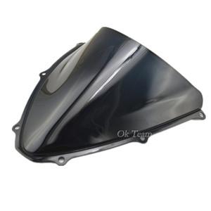 новый мотоцикл двойной пузырь ABS лобовое стекло лобового стекла 2006-2007 GSXR 600/750 K6 06-07 черный бесплатная доставка