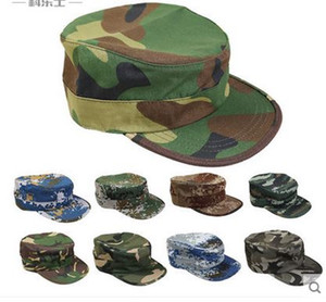 Men's women's camouflage print outdoor sports travel riding climbing hiking camping flat top snapbacks trucker hats peaked caps