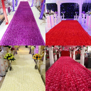 Nouvelle arrivée de luxe centres de mariage faveurs 3D Rose pétale tapis allée coureur pour la décoration de fête de mariage fournitures 12 couleur
