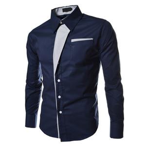 Großhandels- SYB 2016 NEUE Herbst-beiläufige männliche lange Hülsen-Streifen-Hemd-Sozialblusen nehmen passende Hemden ab